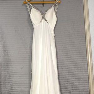 Women's Long White Detailed Dress